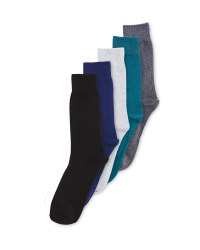 Men's 5 Pack Cotton-Rich Socks