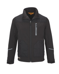 Men's Black Softshell Jacket