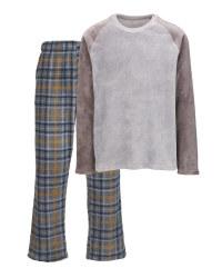 Men's Fleece Loungewear - Grey