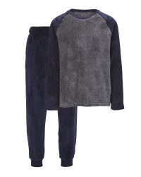 Men's Fleece Loungewear - Navy