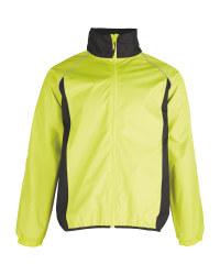 Men's Yellow Cycling Rain Jacket