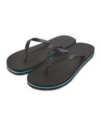 Avenue Men's Black Flip Flops
