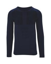 Men's Blue Base Layer Shirt