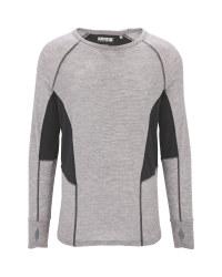 Men's Grey Base Layer Top