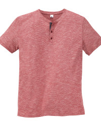 Mens Red Henley T-Shirt