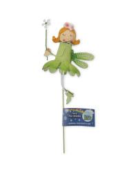 Metal Fairy Plant Pot Stick - Green