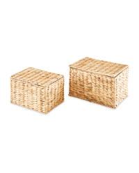 Natural Storage Basket 2 Pack