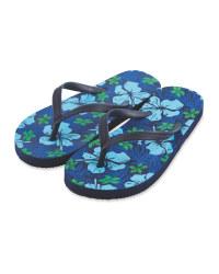 Children's Navy Flip Flops