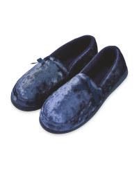 Navy Ladies Slippers