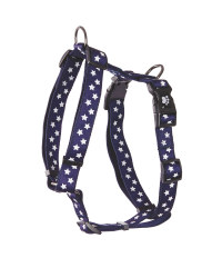 Navy Stars Standard Pet Harness