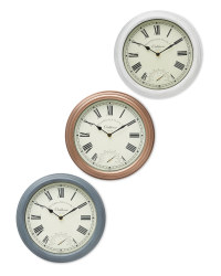 Outdoor Wall Clock & Thermometer