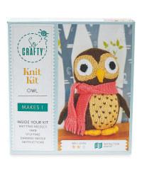 So Crafty Owl Knitting Kit