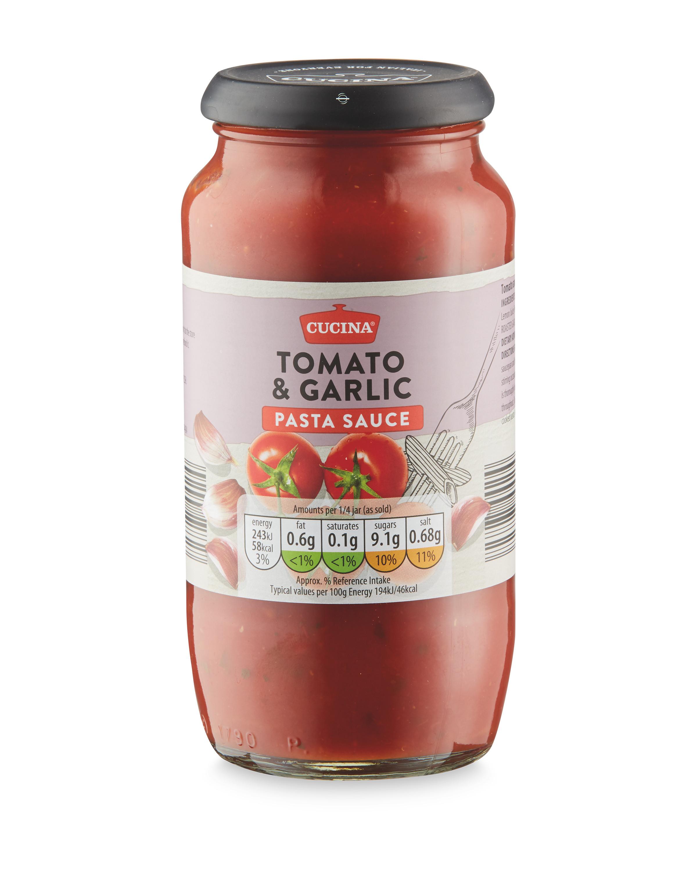 Pasta Sauce Tomato Garlic Aldi Ie