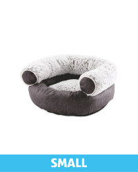 Small Faux Leather Pet Chair Bed