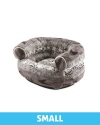 Small Patterned Plush Pet Chair Bed