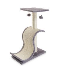 Pet Collection Curved Cat Scratcher - Grey