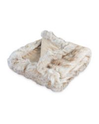 Pet Collection Faux Fur Pet Blanket - Brown 2 Tone