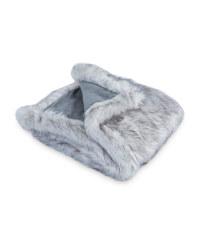 Pet Collection Faux Fur Pet Blanket - Grey 2 Tone