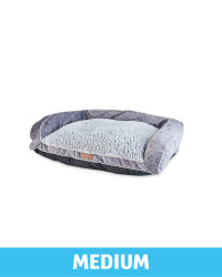 Pet Collection Medium Pet Soft Bed - Silver