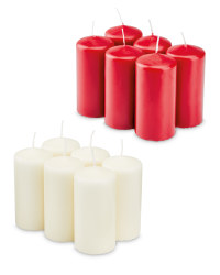 Pillar Candles Pack of 6