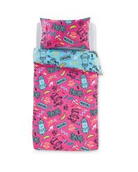 Pink Minions Single Duvet Set