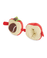 Plush Apple Dog Toy With Ball