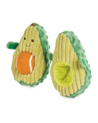 Plush Avocado Dog Toy With Ball