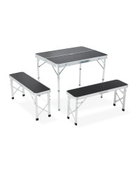 Portable Table With Benches