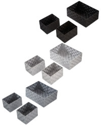 Rattan Effect Storage Boxes 3 Pack