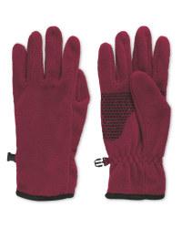 Crane Red Gloves