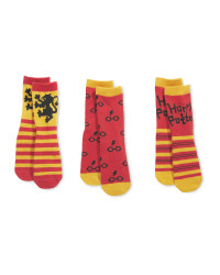 Red Harry Potter Socks 3 Pack