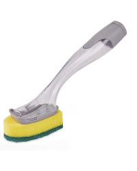 Refillable Dish Brush With Refill - Grey