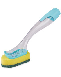 Refillable Dish Brush With Refill - Teal