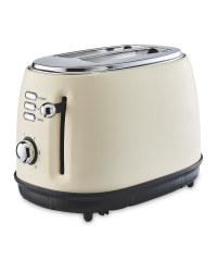 Ambiano Retro Toaster - Cream