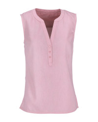 Rose Ladies' Linen Blend Blouse