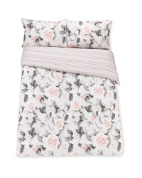 Rose Stripe King Duvet Set