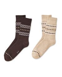 Sand/Brown Mountain Socks 2 Pack