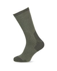 Crane Short Wool Fishing Socks - Green
