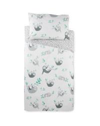 Sloth Toddler Bed Duvet Cover Set