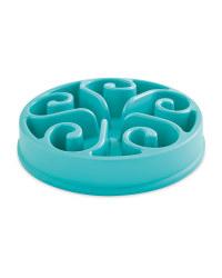 Turquoise Swirl Dog Slow Feeder