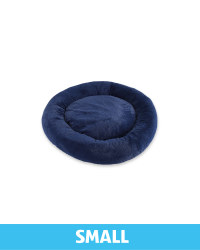 Small Comfy Short Pile Pet Bed - Navy