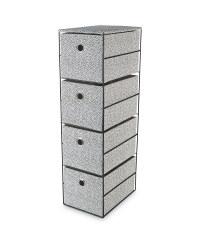 Spots 4 Drawer Fabric Storage Unit
