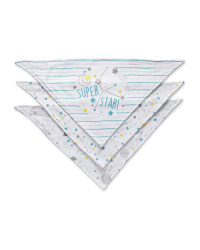 Starry Sky Dribble Bibs 3 Pack