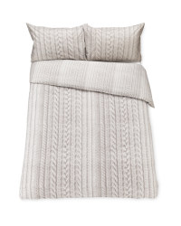 Stone Knit Look Superking Duvet Set