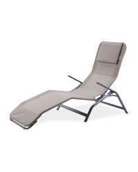 Taupe Reclining Sunlounger