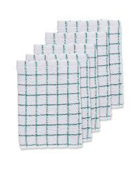 Green Terry Tea Towels 5 Pack