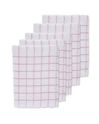 Pink Terry Tea Towels 5 Pack