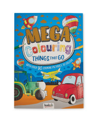 Things That Go Mega Colouring Book