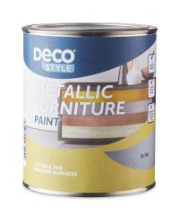Vintage Metallic Furniture Paint - Silver