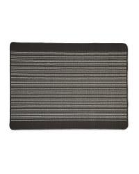 Barcode Stripes Washable Utility Mat